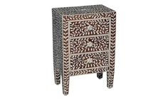 SHOP HOME DECOR NOW! Bone Inlay Furniture - Side Table Floral Pattern | Free Shipping by Heathertique