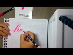 How to do brush calligraphy with the Tombow blending palette (+ a video!) – pieces calligraphy