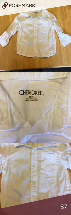Boys 18 Month White Button Down Formal Shirt NWOT never worn. Long sleeve, white button down shirt in 18 month boys. No rips, tears or stains. Great condition, smoke free clean home and fast shipper/top rated seller. Shirts & Tops Button Down Shirts