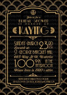 24 Best Great Gatsby Invitation Images On Pinterest Wedding Ideas