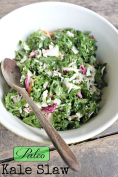 Fresh kale is the star of this simple and tasty salad