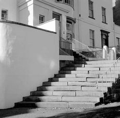 AA98/04328 General view showing steps leading up to Prince's Buildings on Wellington Terrace in Clifton.