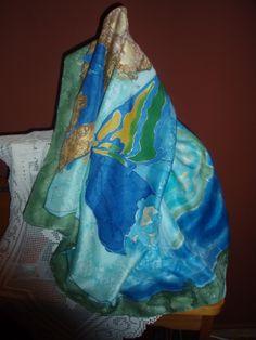 Ručno oslikana svila - ešarpa