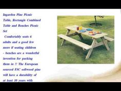 Ingarden Pine Picnic Table  Rectangle Combined Table - http://news.gardencentreshopping.co.uk/garden-furniture/ingarden-pine-picnic-table-rectangle-combined-table/