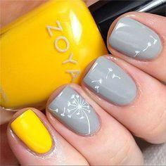 Яркие и пастельные сочетания цветов на ногтях