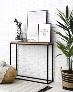 Dual-console-hall-entry - Kenay Home - Dual black console - Home Entrance Decor, House Entrance, Entryway Decor, Home Decor, Living Room Decor, Bedroom Decor, Wall Decor, Flur Design, Decoration Entree