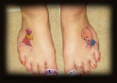 Brandi Egbert (Ink Well Tattoo): A Rooster and A Pig: For Good Luck!