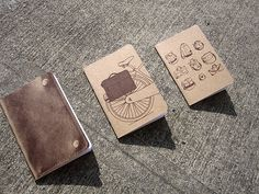 little notebooks with little illustrations