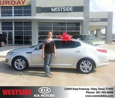 #HappyAnniversary to Jeniffer Walker on your new car   from Wilfredo Suliveras at Westside Kia!