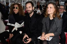 Marisa Berenson Photos - (L-R) Marisa Berenson, Benjamin Millepied and Natalie Portman attend the Christian Dior show as part of Paris Fashion Week Haute Couture Spring/Summer 2015 on January 26, 2015 in Paris, France. - Front Row at Christian Dior
