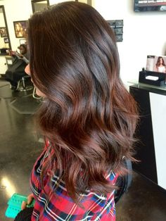 auburn ombre highlights for layered brown hair for goin red
