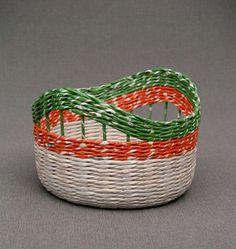 HappyModern.RU | Плетение корзин из газетных трубочек: осваиваем модное рукоделие (54 фото) | http://happymodern.ru