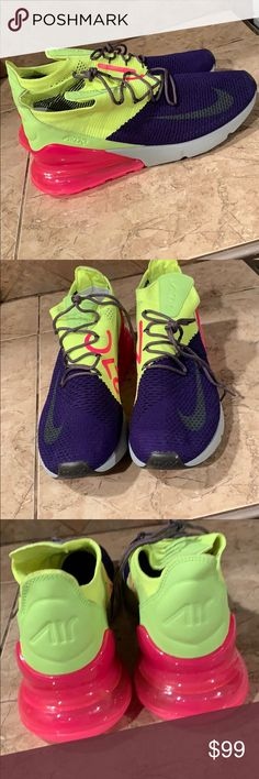 Nike AirMax 270 Flyknit Brand new without box s I have size 9 and 13 men  ready to ship out let me know what size u need so I can send you correct ... d4d2dcd44