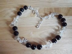 Chunky agate and quartz nugget necklace £10.00