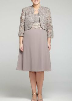 3/4 Sleeve Lace Jacket Party #Dress