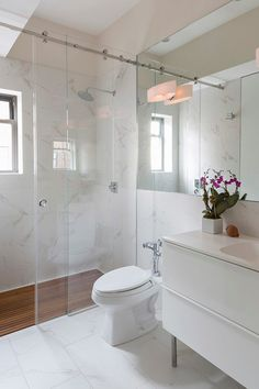 Sliding shower doors bathroom contemporary with wall sconce sliding shower door