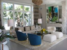 Palm Springs Modern - Midcentury - Living Room - los angeles - by Woodson & Rummerfield's House of Design