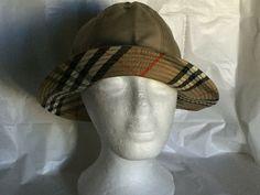 2cadcb47fb0 Vintage Burberrys Womens Bucket Hat Medium Brim England M Nova Check