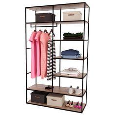 Medium Practical Open Closet