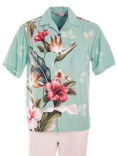 9928d05a Men's Rayon Engineered Shirt [Teal] - Men's Hawaiian Shirts - Hawaiian  Shirts | AlohaOutlet