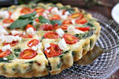 Superfood spinach is the star of the show in this healthycrustlessquiche with tomatoes, onions andfeta. Delicious warm, room temp, or chilled - this is a versatile andnutritiousdish! Isn't thisGORGEOUS? Super healthy (especially since I opted to make this acrustless quiche) withso much color and flavor! Spinach is a hot favorite with The Husband,in pretty much all forms: fresh, frozen, or canned. I've heard tales of him as a kid opening cans of spinach and devouring ...