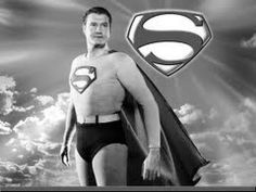 George Reeves in Adventures of Superman Memories of my childhood. Every Halloween I beg for a Superman Costume. Golden Age Of Hollywood, Old Hollywood, Dc Movies, Movie Tv, Comic Movies, First Superman, Real Superman, Superman Stuff, Superman Family