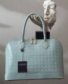Arcadia Acqua 13 Patent Leather Satchel Handbag Italian | eBay