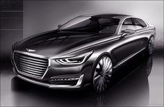 New Genesis brand takes shape as Hyundai Motor unveils rendering of G90 #automobile #cars #style #hyundai http://dubaiprnetwork.com/pr.asp?pr=104623