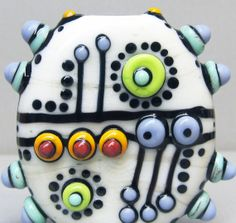 Alien EggHandmade Lampwork Glass Bead by beadygirlbeads on Etsy, $30.00 <3<3<3 ADORE THEIR BEADS - SO MUCH COLOUR & FUN<3<3<3