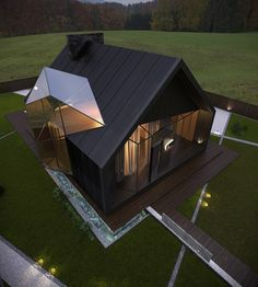 ollow for more amazing posts! _ Chalet By B + S Building Company 📐 Located in Poltova, Ukraine📍🇺🇦 ______ Welcome Contemporary Architecture, Interior Architecture, Exterior Design, Interior And Exterior, Building Companies, Building Products, Unusual Homes, Interesting Buildings, Glass House