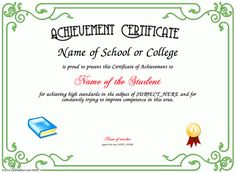 make your own certificate of achievement  Baby Birth Certificate Template   Certificate Templates ...