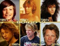 Jon through the years. My favourite the 80s and 90s one;-)