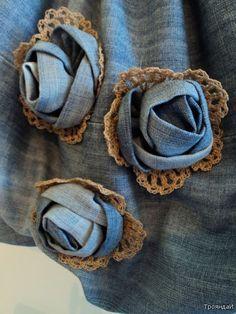 Denim roses, great corsage: