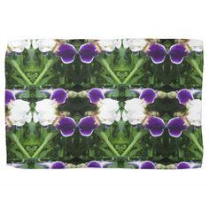 White Purple Green Show CherryHILL NVN217 NavinJOS Kitchen Towels