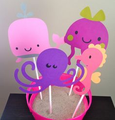 Under the Sea Themed Centerpiece  Set of 8  by 2CreativeGirls, $10.00