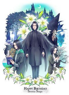 Happy birthday, Severus Snape - 9 January.   Rest in peace, my boy!