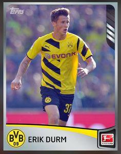 033b9e06e26 Erik Durm Borussia Dortmund (Bundesliga League) Silver Parallel Card 2015  Topps KICK