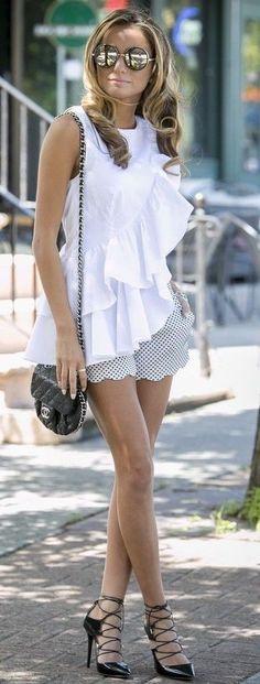 #summer #trending #street #style | Ruffles + Dots
