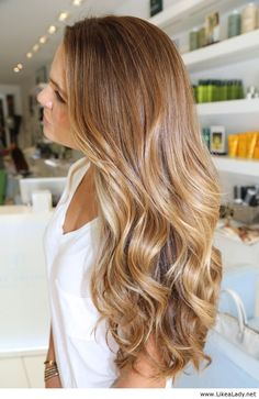 Caramel blonde; think I'm gonna do this color when spring rolls around! :)