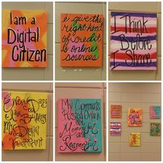 Digital Citizenship Wall Display