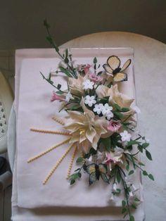 B-day flowers by Delia's_cake studio