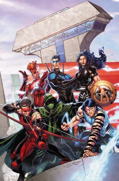 Titans #8 - Brett Booth, Colors: Norm Rapmund