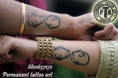Infinity Couple tattoo design @ permanent tattooart in Gurgaon tattoo in Gurgaon tattoo in Gurgaon 1 Tattoo, Tattoo Shop, Infinity Couple Tattoos, Marriage Tattoos, Brides With Tattoos, Couples Tattoo Designs, Permanent Tattoo, Tattoo Parlors, Wedding Tattoos