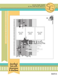 ISSUU - CREATE: Issue 4, April 2014 by Scrapbook Generation...up to three photo layout