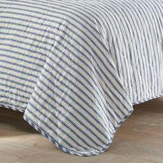Willow Way Ticking Stripe Quilt Set - Stone Cottage : Target Navy Quilt, Striped Quilt, Twin Quilt, Striped Bedding, King Quilt Sets, Queen Quilt, Shabby Chic Material, Ticking Stripe, Ticks