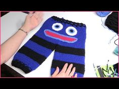 How to Crochet Baby Monster Pants Size 6-12 Months - YouTube
