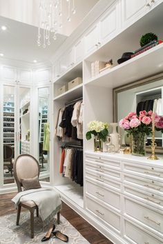 White Walk-In Closet With Ample Storage