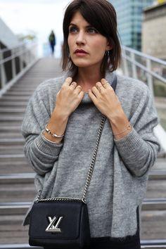 Cosy Knits & Louis Vuitton Twist Bag   more on www.viennawedekind.com #knits #louisvuitton #designersremix