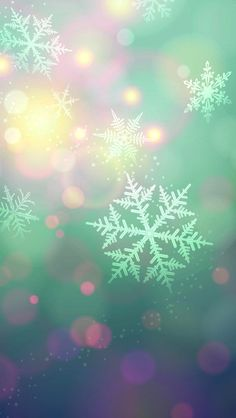Snowflakes. Christmas wallpaper