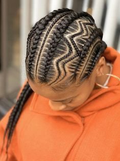 # two Braids with weave Ghana weaving /Braids/ wig/ wig for women/ # feed in Braids cornrows Feed In Braids Hairstyles, African Hairstyles, Braided Hairstyles, Romantic Hairstyles, Black Hairstyles, Two Braids With Weave, Braid Styles With Weave, Afro Hair Girl, Natural Hair Styles